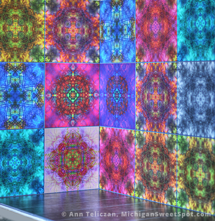 This is from my Kaleidoscope collection, I just love how it turned out on tiles.