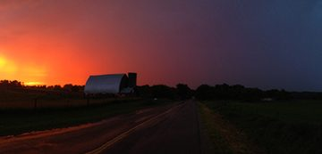 Stormy Sunset In Ada, MI