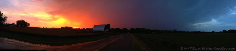 There was a storm and a perfect sunset, both at the same time