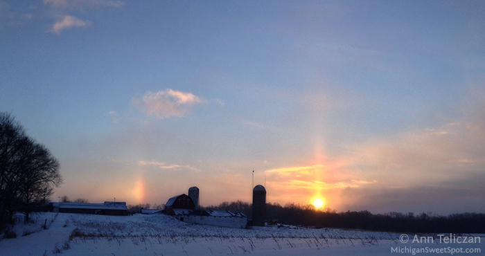 Sundog Sunrise in Ada, MI