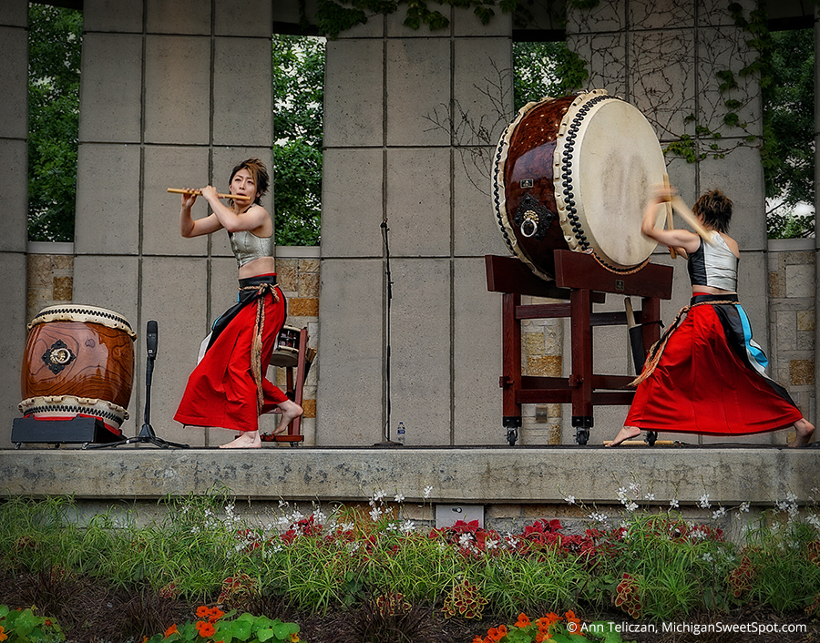 Taiko Drummers The New Japanese Gardens At Frederik Meijer Gardens Grand Rapids Michigan