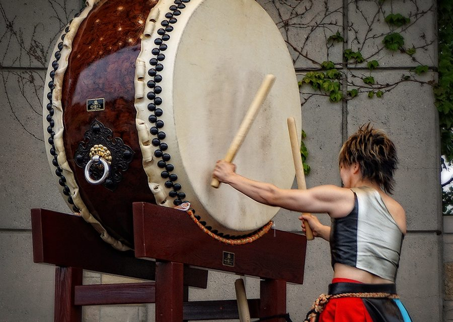 Taiko Drummers & The New Japanese Gardens at Frederik Meijer Gardens, Grand Rapids